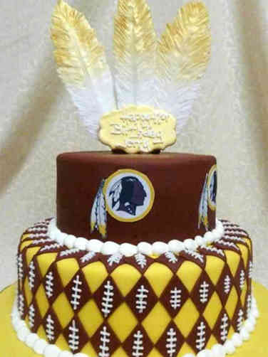 Sports 34 Washington Redskins Tiered Birthday Cake