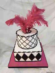 Feminine 44 Fabulous Feather Birthday Cake