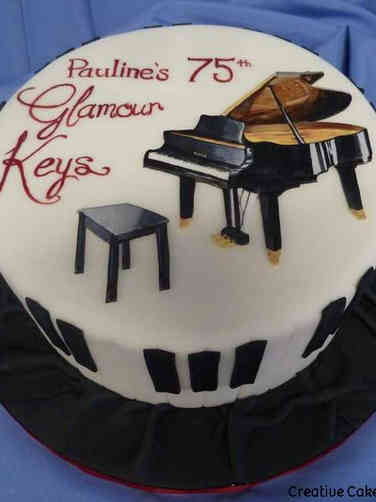 Hobbies 39 Elegant Piano Birthday Cake
