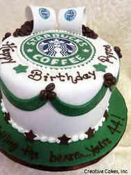 Food 15 Starbucks Coffee Birthday Cake