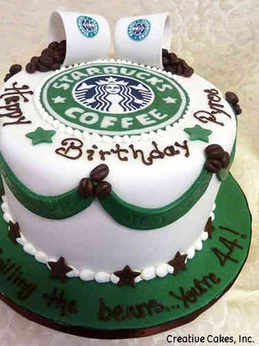 Food 15 Starbucks Coffee Birthday Cake