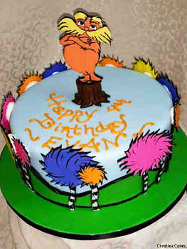 Movies 16 The Lorax and Trees Birthday Cake