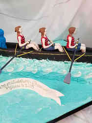 College 35 Rowing Team Graduation Cake