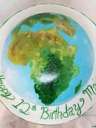 Unique 20 Globe Africa Birthday Cake