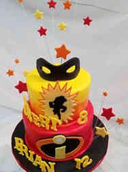 Superheroes 14 The Incredibles Birthday Cake