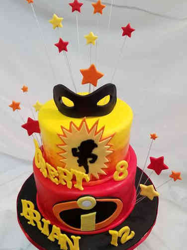 Superheroes 14 The Incredibles Birthday Cake
