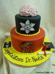 Grad School 12 Neuroscientist Ph.D. Graduation Cake