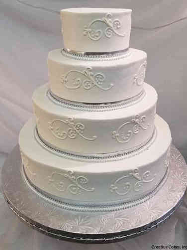 Simple 10 Allure Scroll Wedding Cake
