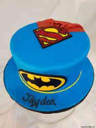 Superheroes 30 Superman and Batman Birthday Cake