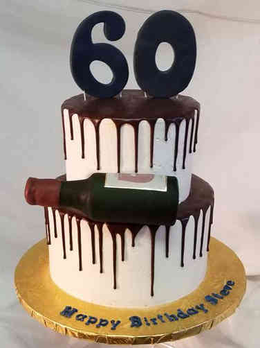 Numbers 30 Chocolate Drip 60th Birthday Cake