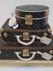 Fashion 82 Louis Vuitton Luggage Birthday Cake