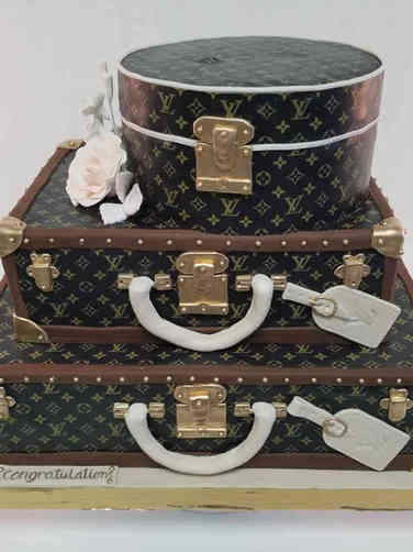 Fashion 82 Louis Vuitton Luggage Birthday Cake