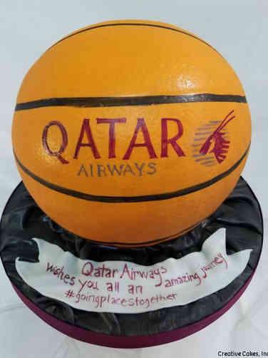 Corporate 10 3D Basket Ball Celebration Cake