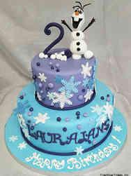 Movies 02 Olaf Frozen Birthday Cake