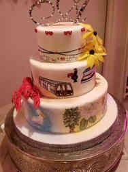 Unique 04 Maryland and Louisiana Wedding Cake