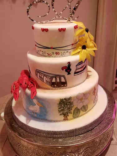 Unique 04 Maryland and Louisiana Wedding Cake