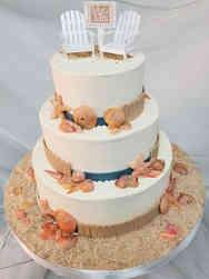 Unique 07 Beach Wedding Cake