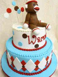 Animals 31 Sock Monkey Birthday Cake