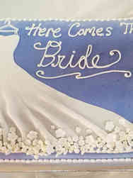Dress 14 Here Comes the Bride Bridal Shower Cake