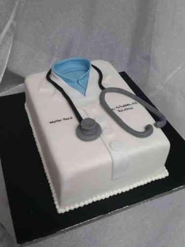 Professional 14 Doctor's Lab Coat Celebration Cake