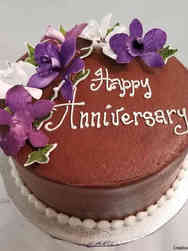 Anniversary 04 Chocolate and Orchids Anniversary Cake