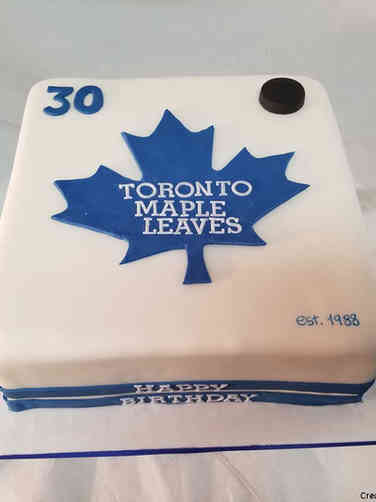 Sports 49 Toronto Maple Leaves Hockey Birthday Cake