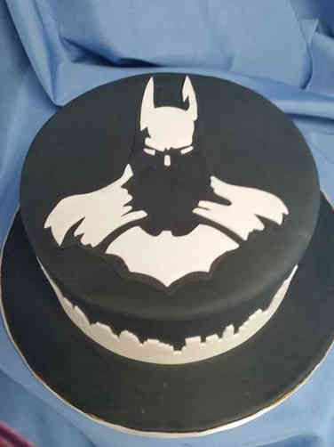 Pop 23 Minimalist Batman Birthday Cake