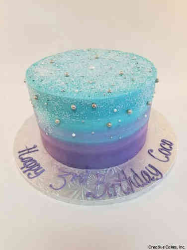 Classic 33 Sparkly Watercolor Birthday Cake