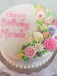 Floral 21 Spring Flowers Birthday Cake