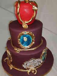 Princesses 08 Tiered Descendants Birthday Cake