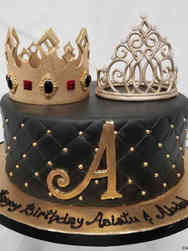 Fashion 27 King and Queen Birthday Cake