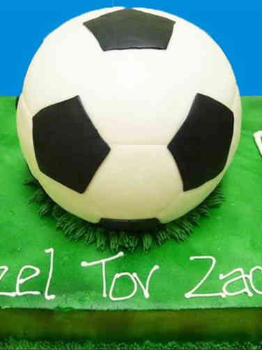 Mitzvah 01 Soccer Star Bar Mitzvah Cake