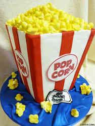 Unique 05 Popcorn Birthday Cake