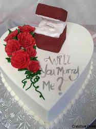 Dress 03 3D Ring Box Proposal Cake
