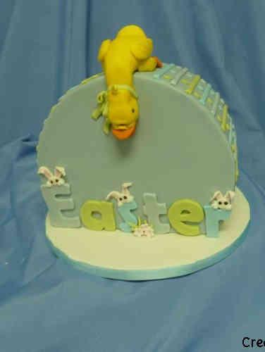 Spring 07 Geometric Duckling Cake