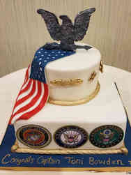 Military 10 Military Insignia Military Promotion Cake