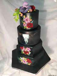 Unique 34 Texas Gothic Wedding Cake