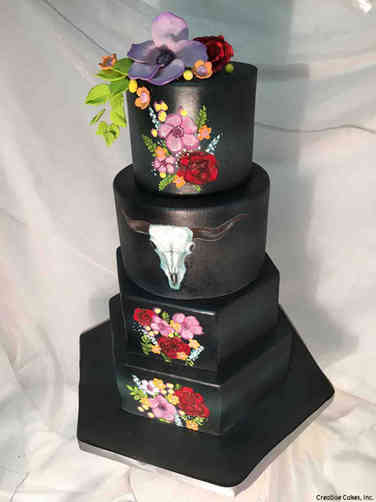 Unique 34 Texas Gothic Wedding Cake