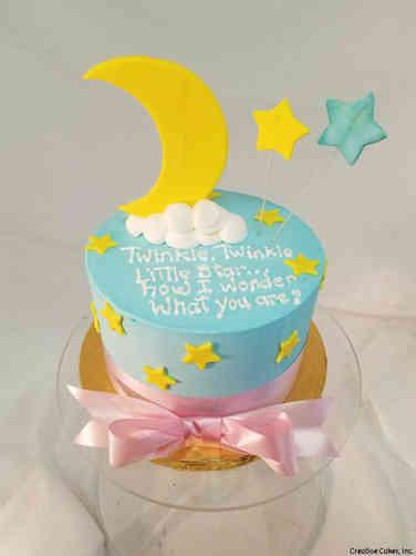 Reveal 13 Buttercream Starry Sky Gender Reveal Cake