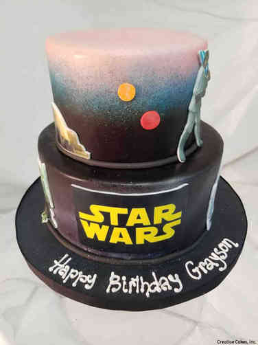 Movies 31 Two Tier Star Wars Birthday Cake