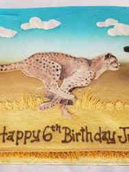Animals 06 Cheetah Birthday Cake