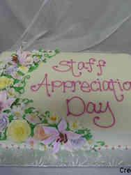 Floral 19 Spring Garland Staff Appreciation Day Celebration Cake
