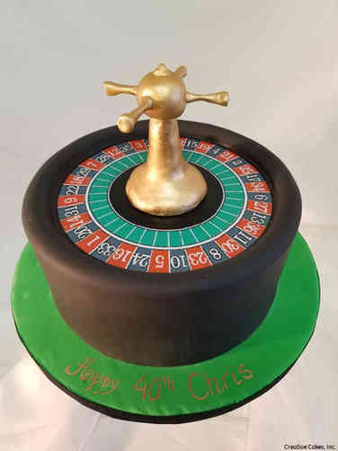 Sports 45 Roulette Wheel Birthday Cake