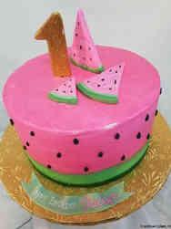 Neutral 15 Watermelon First Birthday Cake