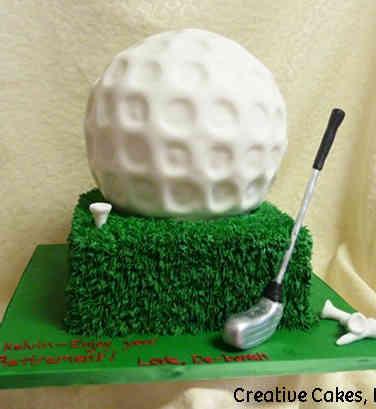 Professional 15 Golf Ball Retirement Cake