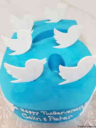Corporate 03 Cut Out Number Twitter Celebration Cake