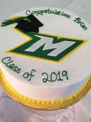College 34 School Logo Graduation Cake