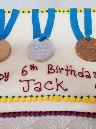 Sports 15 Olympic Medals Birthday Cake