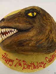 Animals 52 Buttercream Dinosaur Head Birthday Cake