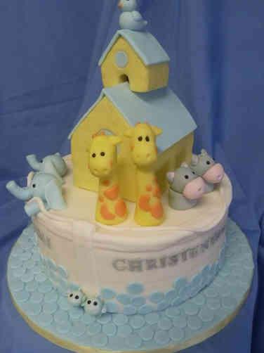 Neutral 37 3D Noah's Ark Baby Shower Cake